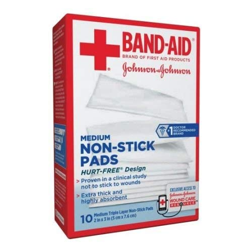 Johnson and Johnson First Aid Medium Non Stick Pad, 2 x 3 inch - 240 per ()