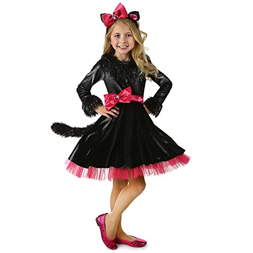 Barbie Little Girls Kitty Pink Bows Headband Halloween Costume 4-XS (Barbie Play Do)