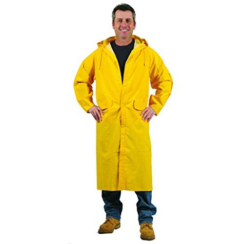 Galeton 7970-4XL-YW 7970 Repel Rainwear 0.35 mm PVC Raincoat, 48
