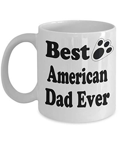 11oz Funny Rabbit Lover Mug Best American Dad Ever Rabbit Puppy Supplies Gift Coffee Mug Tea Cup White,al5997