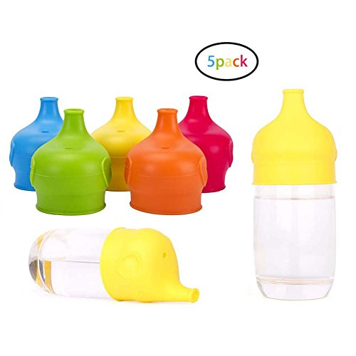 YJWB Silicone Sippy Cup Lids (5 packs) - Leakage Cup for Infants and Toddlers,sippy cup with lid