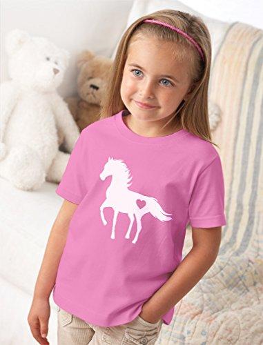 Tstars Gift for Horse Lover Love Horses Toddler Kids T-Shirt 3T Blue by Tstars (Image #4)
