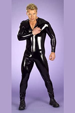 23d67d646e5 Shiny black men and gays full lenght pvc vinyl wet look catsuit playsuit  bodysuit male stripper bondage fetish party fancy dress stag do   Amazon.co.uk  ...