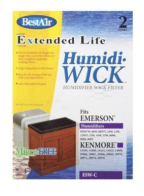 (6) Best Air ESW-C Humidifier Filters by RPS PRODUCTS
