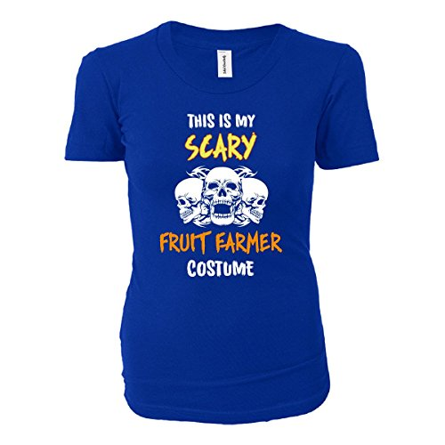 [This Is My Scary Fruit Farmer Costume Halloween Gift - Ladies T-shirt] (Farmers Daughter Halloween Costume)