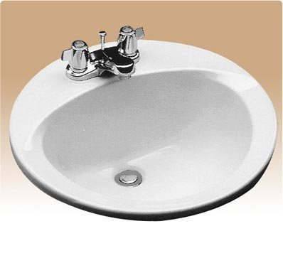 Toto LT502#01 19-Inch Round Self Rimming Lavatory Sink, Cotton