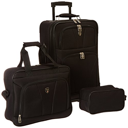 bowman-collection-3-piece-travelers-carry-on-set-in-black