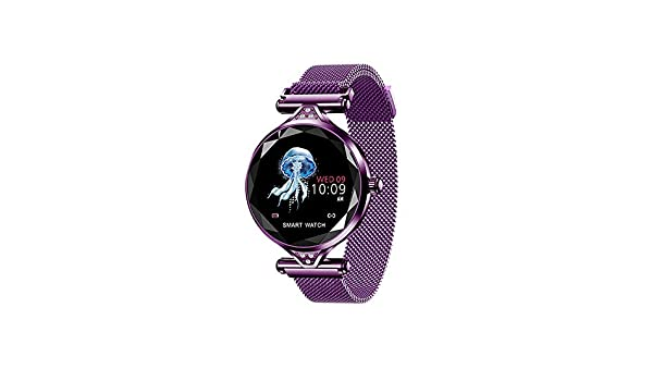 MEISHENG Reloj Inteligente H1 Mujeres Impermeable Bluetooth ...