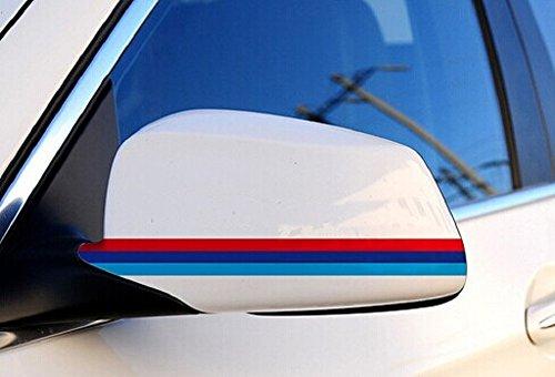 3Colors DIY Mirror Decorative Sticker 28cm for Renault Wind Laguna Latitude Twingo Pulse Scala Koleos Sandero Zeo Scenic Fluence Clio Captur Megane Logan