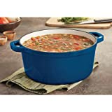 Castlecreek Enameled Cast Iron 6.5-Liter Dutch Oven with Lid - Blue, Model# 6509