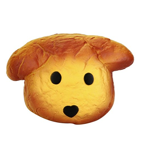 (Hot Sale!! ZOMUSA New Jumbo Dog Head Scented Slow Rising Soft Kids Toy (Yellow))