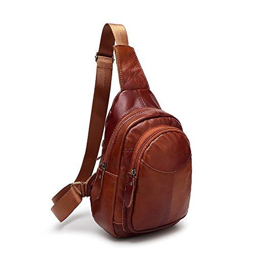 mefly bolsa de viaje bolsa de hombres y mujeres de un arnés de hombro sobre el hombro los hombres y las mujeres, marrón marrón