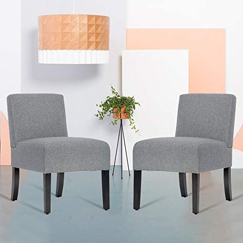 Modern Design 2 Armless Accent Chair Dining Chairs,Fabric Chair