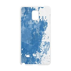 Samsung Galaxy Note 4 Cases, Blue Splashes Cases for Samsung Galaxy Note 4 {White}