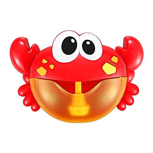 Zpzzy Crab Spit Bubble Machine Blowing Infant Bathtub Children Bathing Baby Bathroom Bath Toys Play Water