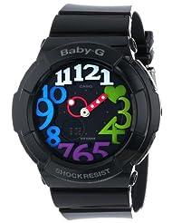 Casio BGA131-1B2 Women's Baby G Ana-Digi Black Dial Black Resin Strap Alarm Watch