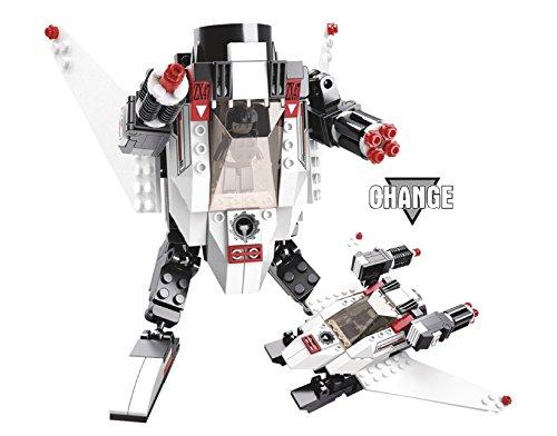 Bausteine Bau Steine Space Weltraum Serie - Ultra Kampf Roboter Alien + Action Figur Mänchen - Transform - Raumgleiter Raumschiff