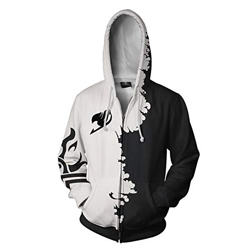 Unisexe A yi Sweats Zipper Animé Niewei manga Capuche À Sweatshirt cosplay Fairy Tail Dessin 3d Zq64IT