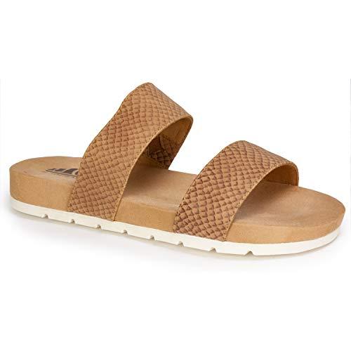 (CLIFFS BY WHITE MOUNTAIN Shoes TAHLIE Women's Sandal, TAN/ES-Print, 8 M)