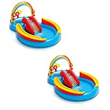 Intex 9.75ft x 6.33ft x 53in Inflatable Kids Pool