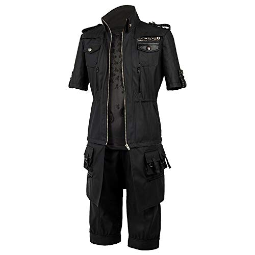 SIDNOR Final Fantasy FF15 XV Noctis Lucis Caelum Noct Jacket Hoodie Cosplay Costume Outfit Black]()