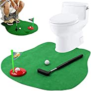 Toilet Golf Potty Time Putter Game, Golf Practice in The Bathroom, Golf Toy Se, Indoor Practice Mini Golf Gift