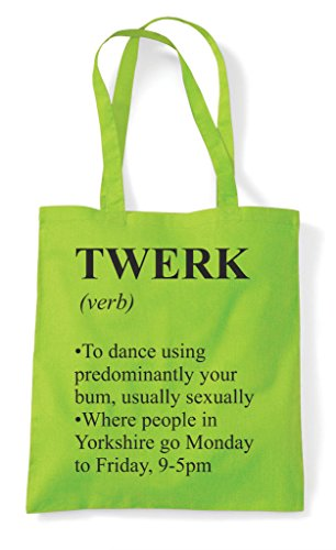 Dictionary Definition Tote The Bag Not Twerk Lime Alternative Shopper Funny In wPYBYRqd