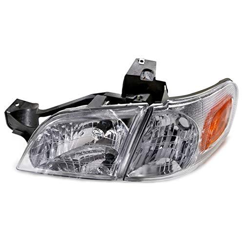 HEADLIGHTSDEPOT Chrome Housing Halogen Headlight with Corner Compatible with Chevrolet Oldsmobile Pontiac Montana Silhouette Trans Sport Venture Includes Left Driver Side Headlamp ()