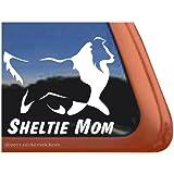 Sheltie Mom Vinyl Window Decal Shetland Sheepdog Dog Sticker