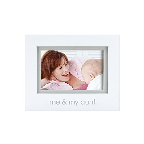 Pearhead Me and My Aunt Photo Frame, White