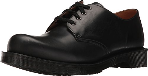 Dr. Martens Men's Albany 4-Eye Shoe Black Polished Finoil Oxford UK 10 (US Men's 11) M (Dr Martens 4 Eye)
