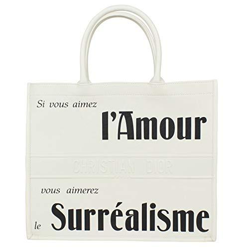 Christian Dior White Leather - Chrisitan Dior Women'S Christian Dior 'L'Amour Surrealisme' White Calfskin Leather Large Book Tote Bag
