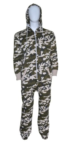 Mens Unisex Womens Adult Camouflage Batman/ Superman Print Hoody Onesie Jumpsuits All In Size S M L XL (XL, (Superman Adult Onesie)