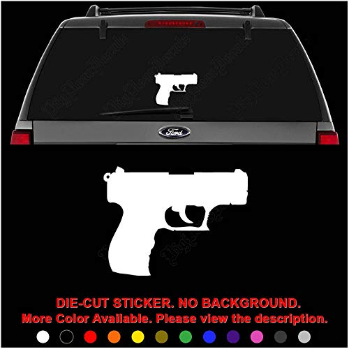 Walther P22 Gun Pistol Die Cut Vinyl Decal Sticker for Car Truck Motorcycle Vehicle Window Bumper Wall Decor Laptop Helmet Size- [10 inch] / [25 cm] Wide    Color- Gloss White
