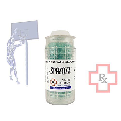 Spazazz SPZ-376 Sport Therapy Rebuild Instant Aromatic Escape Beads Jar, 1/2 oz