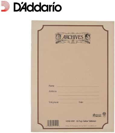 B0002CZR9U Archives Standard Bound Manuscript Paper Book, Guitar Tab, 48 Pages 41wsd5-F9uL