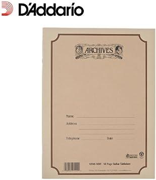 Cuaderno pentagramado Archives con encuadernación común, tablatura ...