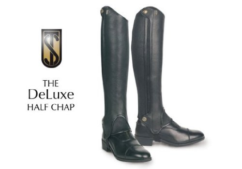 Tredstep Ireland Deluxe Half Chaps - Black Calf 12/Height 17