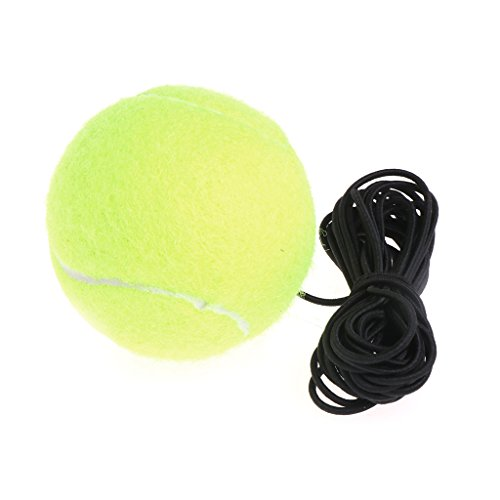 Neon Trainer - Everything Jin Exercise Resiliency Tennis Balls Trainer With String Replacement Rubber Woolen Neon Green