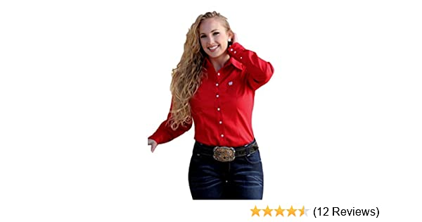 f399fa58 Cinch Women's Solid Button Down Western Shirt - Msw9164032 at Amazon Women's  Clothing store: