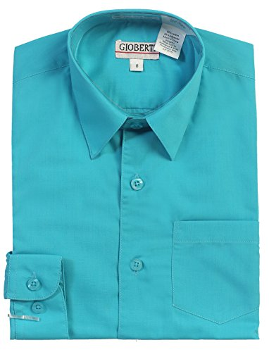Dress Shirt, Teal, 6 ()