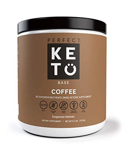 Perfect Keto Exogenous Ketones: Base BHB Salts Supplement. Ketones for Ketogenic Diet Best to Burn Fat to Support Energy, Focus and Ketosis Beta-Hydroxybutyrate BHB Salt (Coffee)