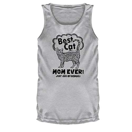 Bengal Cat Mom Sports Tank Tops, T Shirts (S, Grey)