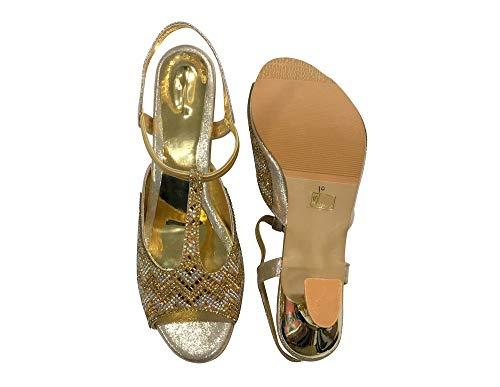 Step Vestir N Para De Mujer Ss265 Dorado Sintético Style Sandalias xFx7H4