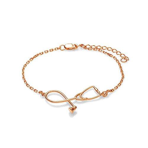 Xinhongg Ladies New Gift Korean Necklace Medical Bracelet Stethoscope Bracelet Pendant ()