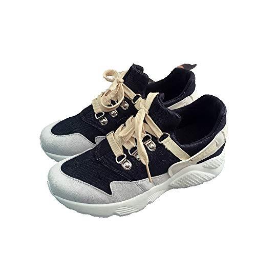 Zapatos Planos Zapatos Correr Deporte para De Zapatillas para Planos black Mujeres Zapatillas AIMENGA Zapatos BZdvqEE