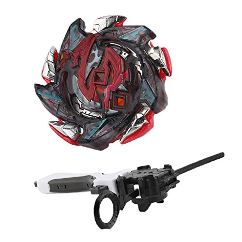 D DOLITY Juguete de Peonza de Batalla con Lanzador Rapidty Fight Burst Toy - Hell Salamander.12.Op B-113