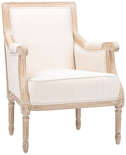 Penny Lane Sofa - Baxton Studio Chavanon Wood and Linen Traditional French Accent Chair, Light Beige