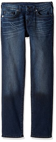 True Religion Boys' Big Geno Jean, Blue Asphalt, 18 (True Religion Boys Jeans)