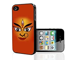 Goddess Durga With Earing in Nose Hard Snap On Cell Phone Case Cover (iPhone 4 4s)